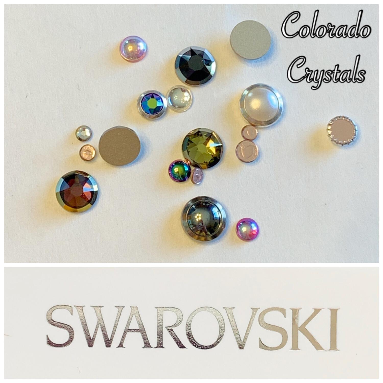 Rimmed Flat Back Combo - Swarovski