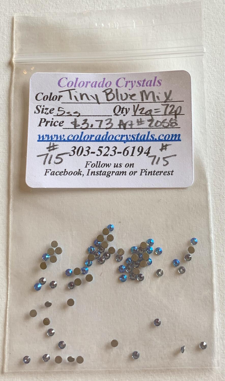 Tiny Blue Mix - 2058 Swarovski