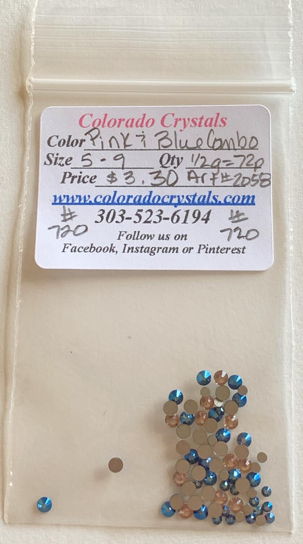 Pink & Blue Combo - 2058 Swarovski