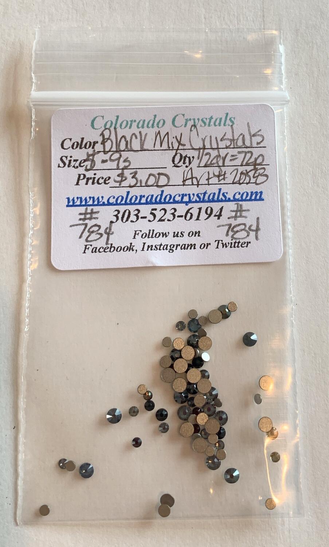 Black Mix Crystals - 2058 Swarovski
