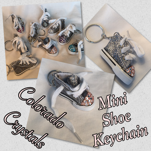 Mini Converse Key Chain With Crystals swarovski