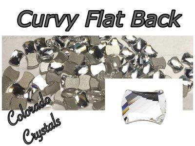 2540 Curvy Flat Back Swarovski Crystals LIMITED