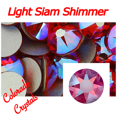Light Siam Shimmer 12ss Limited Swarovski Red Crystals 2088