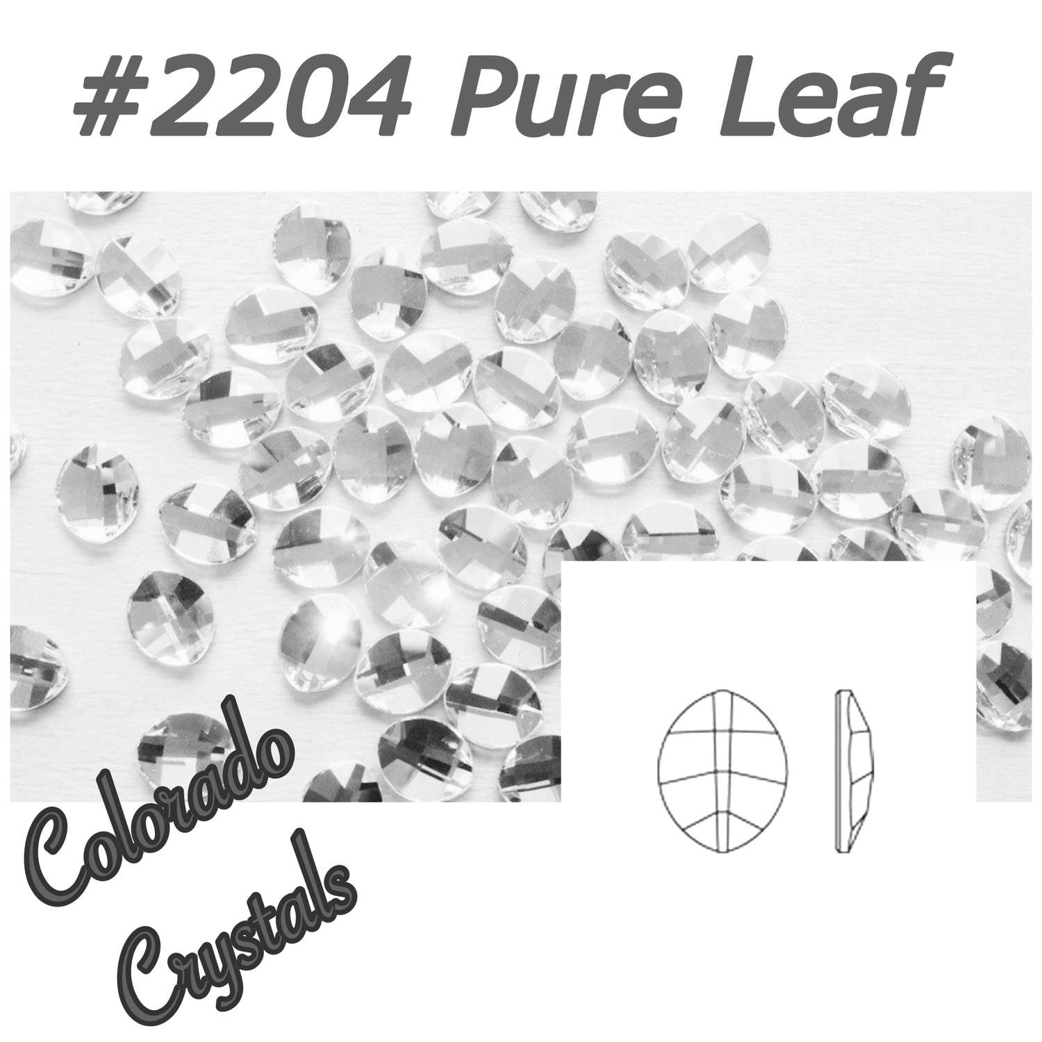 2204 Pure Leaf Swarovski Crystal Flat Back Foiled 6 X 4.8mm LIMITED