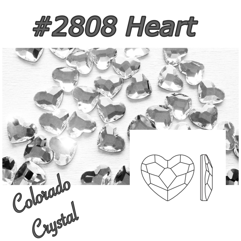 2808 Heart Swarovski Flat Back Crystal 6mm LIMITED