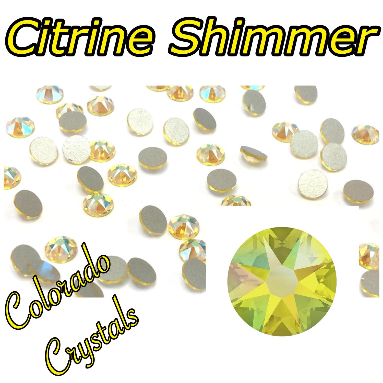 Citrine Shimmer 20ss 2088 Limited Swarovski Yellow Crystals