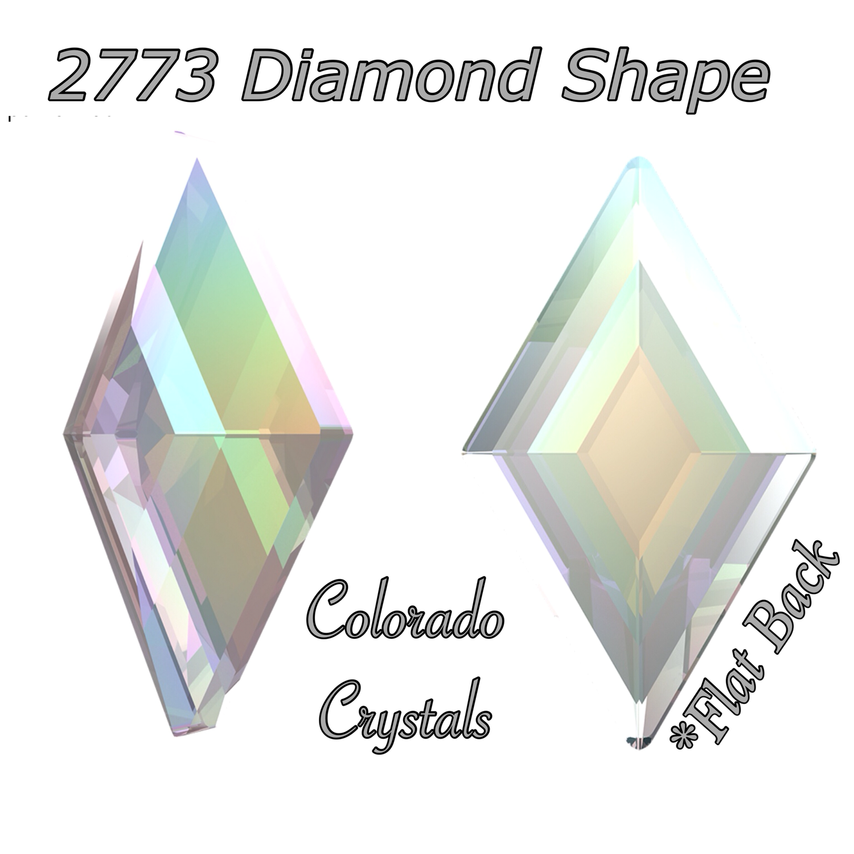 2773 Diamond Shape Crystal AB 5X3mm LIMITED
