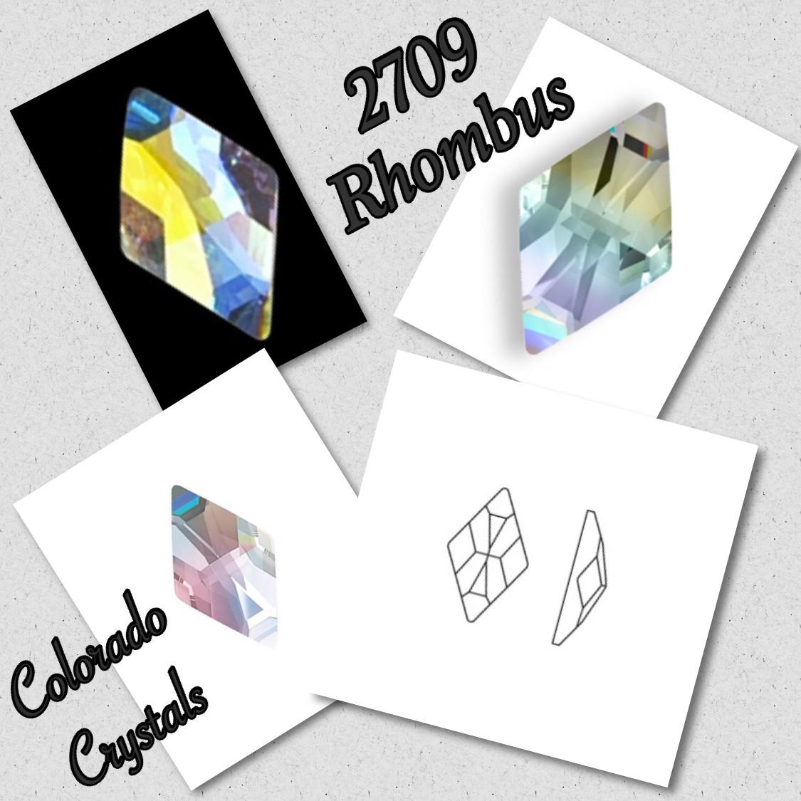 2709 Rhombus 13X8 - Crystal AB - Swarovski Fancy Flatback LIMITED