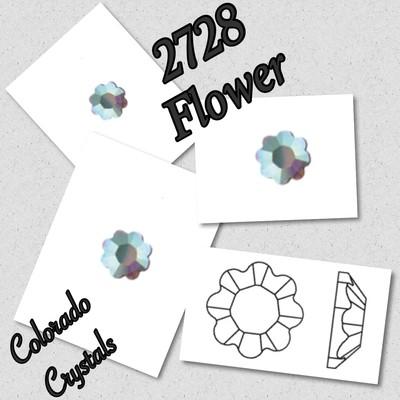 2728 Flower Crystal AB Swarovski Fancy 10ss LIMITED