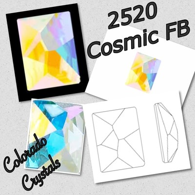 2520 Cosmic Swarovski - Fancy Flatback 14X10 Crystal AB LIMITED