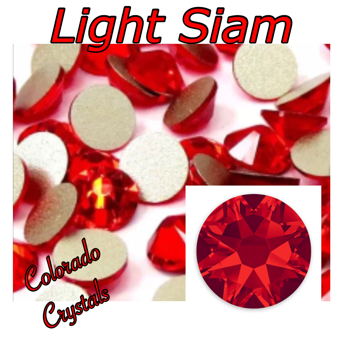 Light Siam 16ss 2088 Red Rhinestones Swarovski