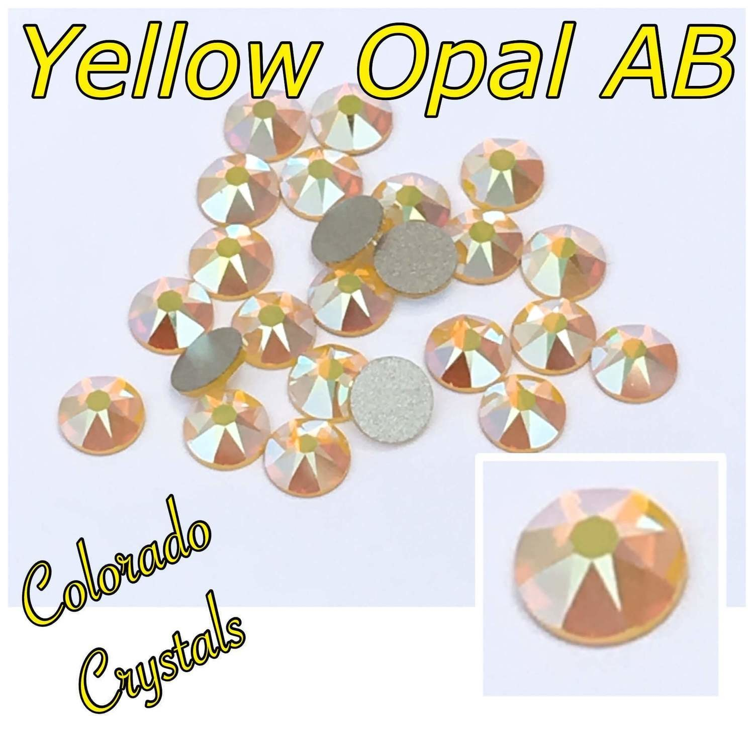 Yellow Opal AB 16ss 2088 Limited bling Gems