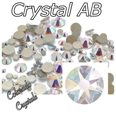 Crystal AB 7ss 2058 Limited Swarovski Nail Art Bling