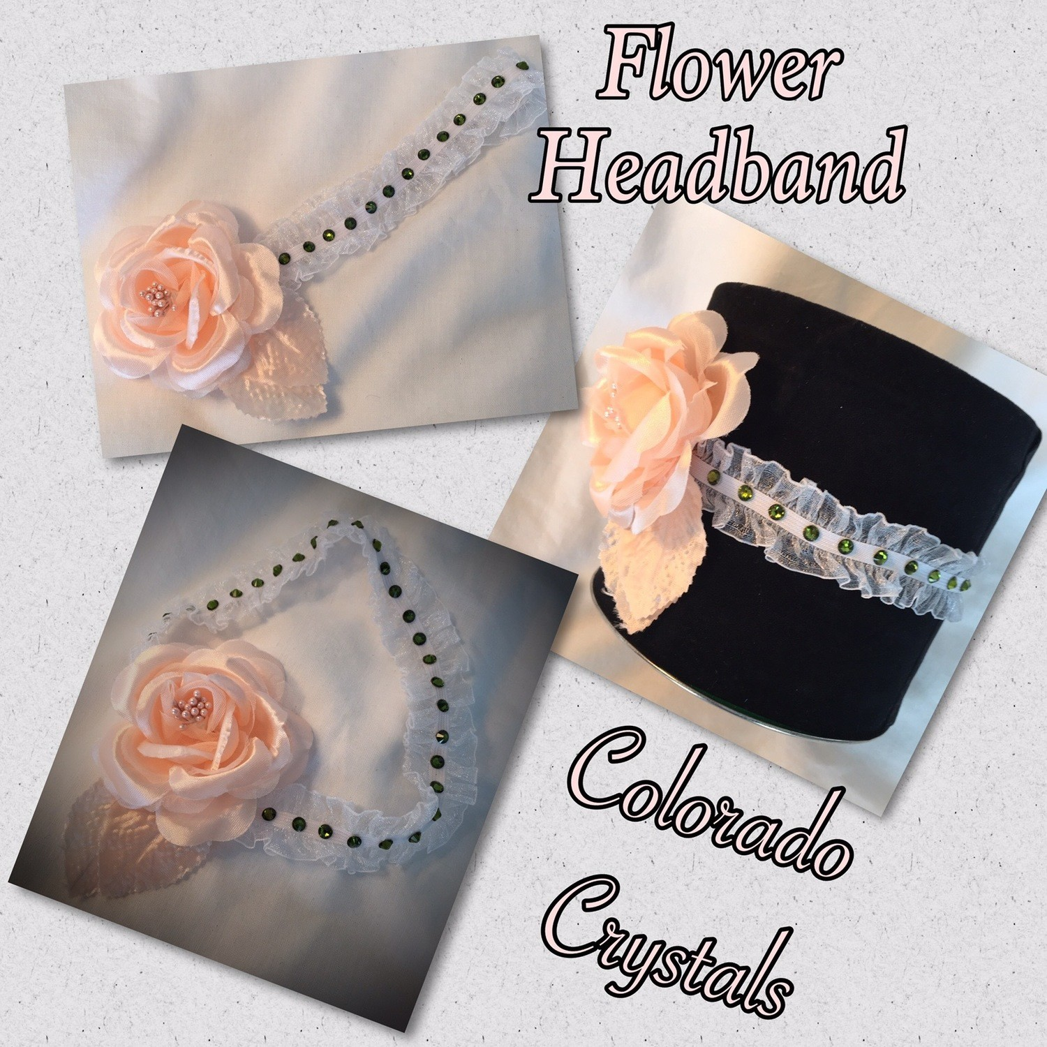 Swarovski handcrafted stretch headband