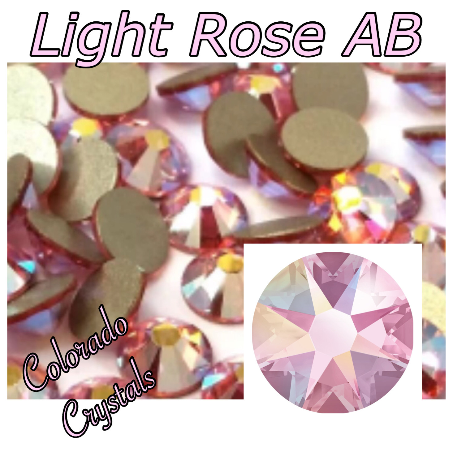 Light Rose AB 30ss 2058 Clearance Swarovski Elements