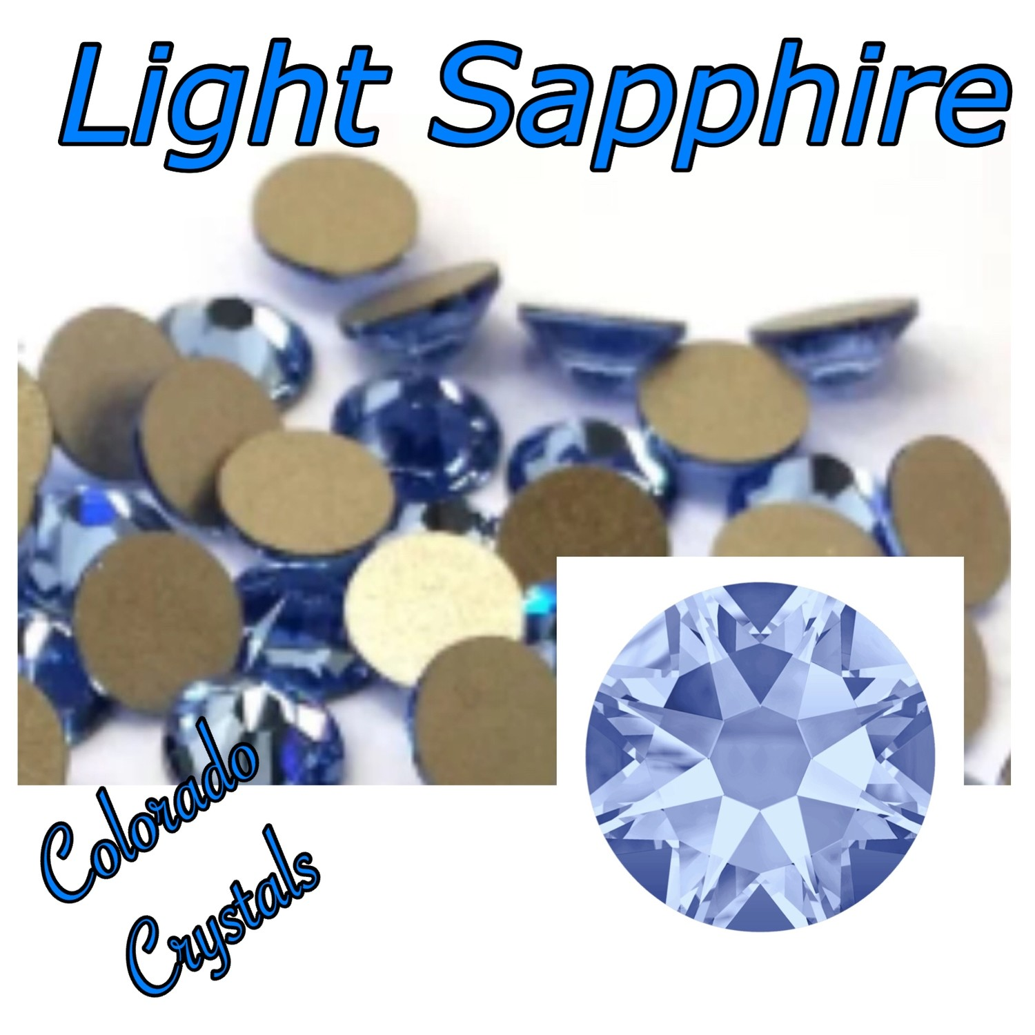 Light Sapphire 12ss 2058 discounted flat back Crystals