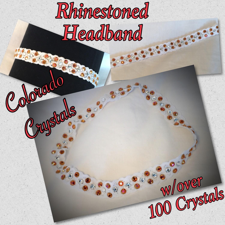 Headband With Swarovski Crystals - stretch