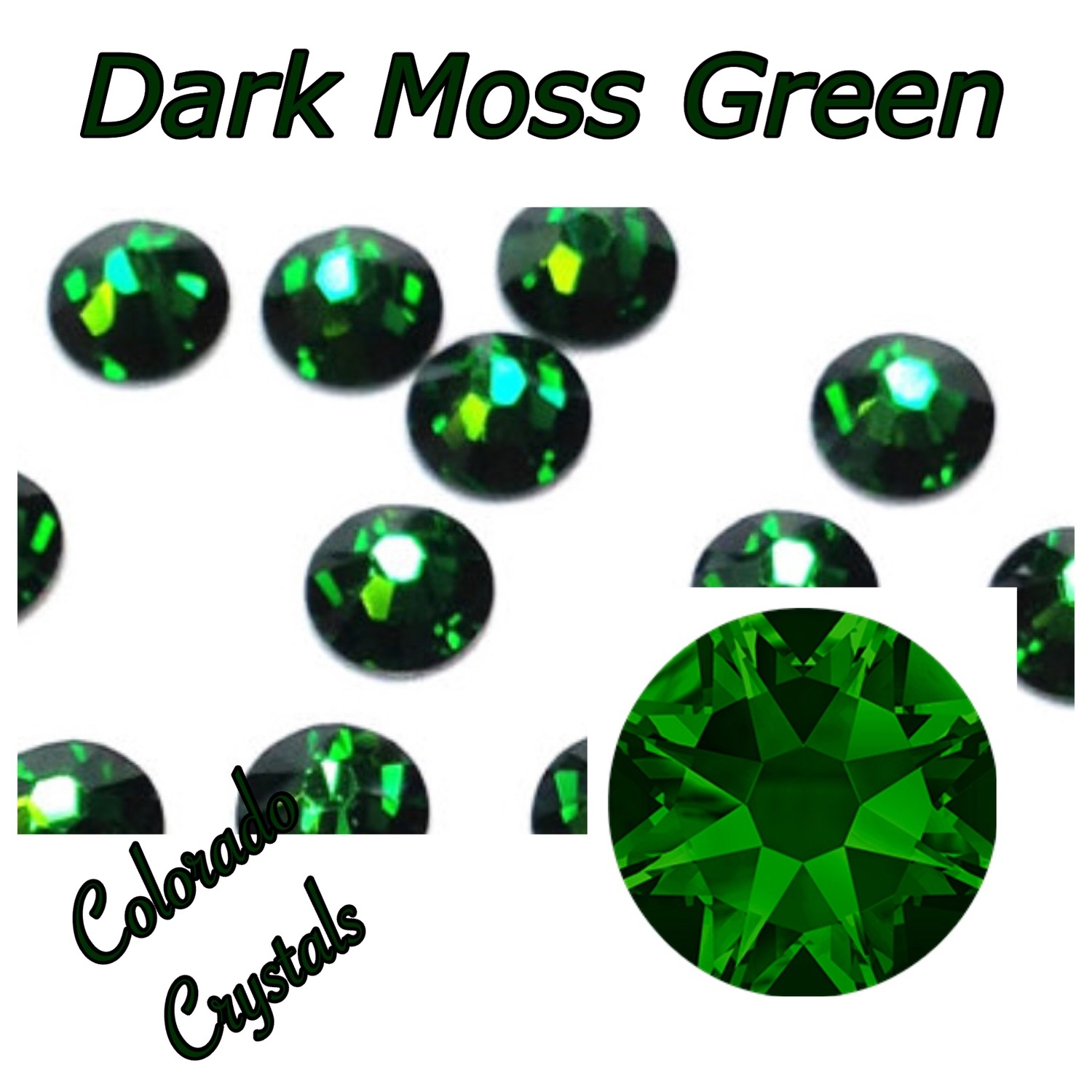 Dark Moss Green 9ss 2058 Limited Swarovski Clearance Crystals