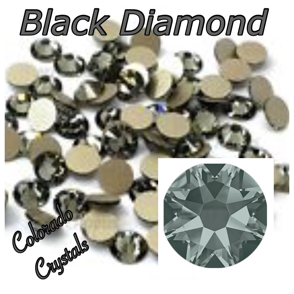 Black Diamond 5ss 2028 Clearance Nail Art Swarovski