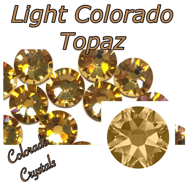 Light Colorado Topaz 16ss 2088 Golden tan bling Swarovski