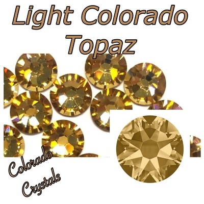 Light Colorado Topaz 16ss 2088 Golden tan bling Swarovski