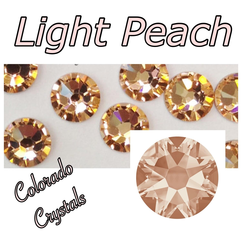Light Peach 16ss 2088 Swarovski round flat backs