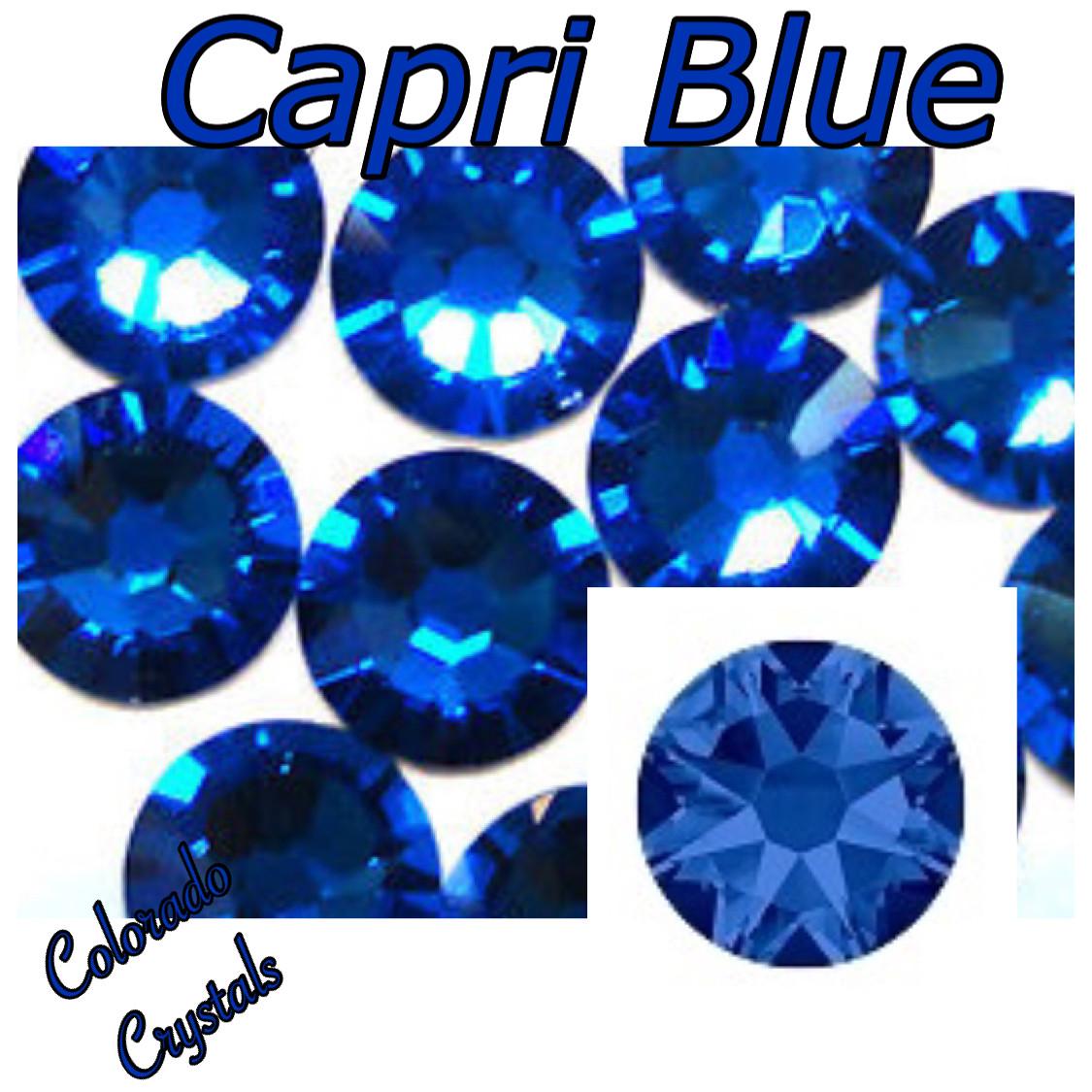 Capri Blue 7ss 2058 Limited Swarovski Nail Art Size Rhinestones