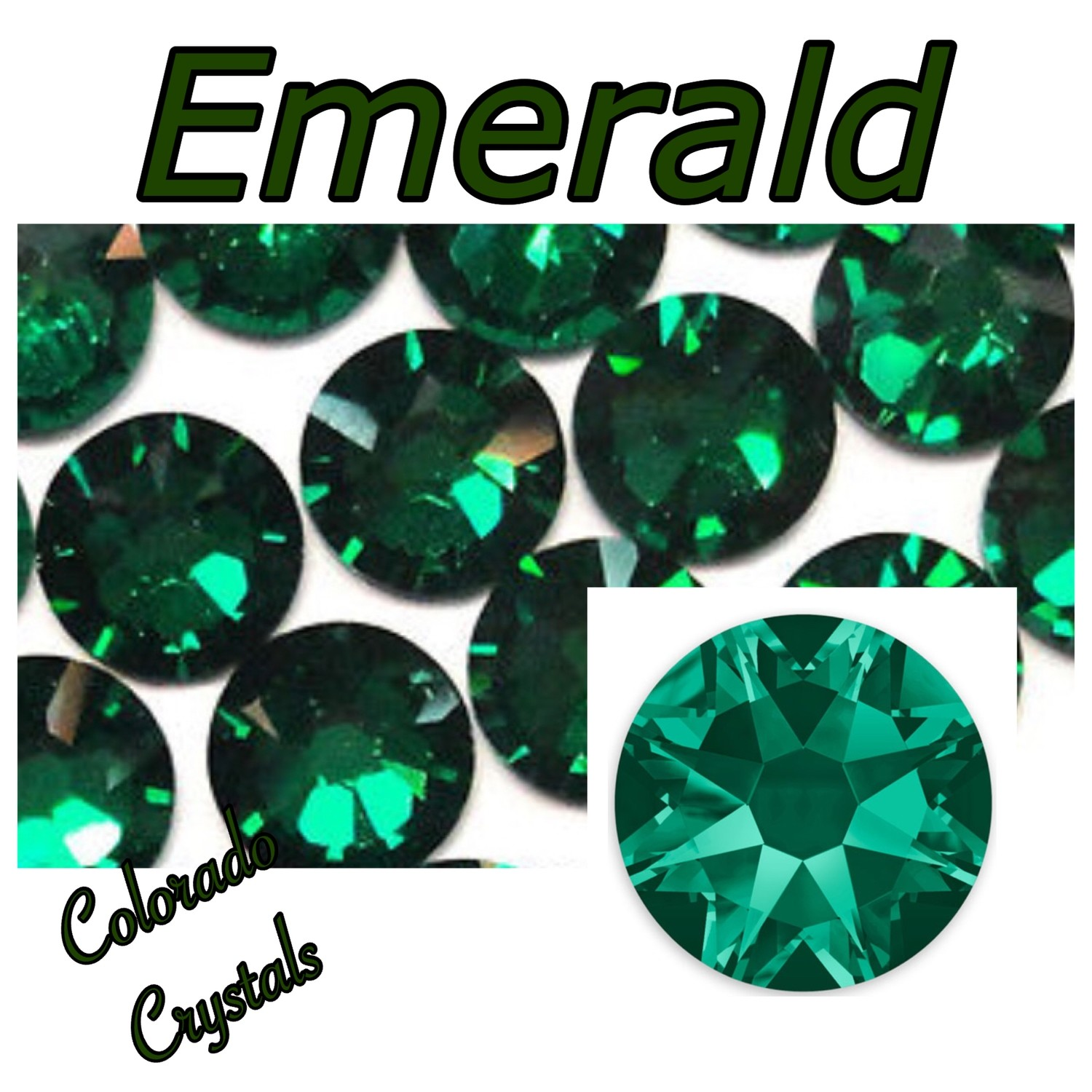 Emerald 20ss 2088 Limited Swarovski Crystals green