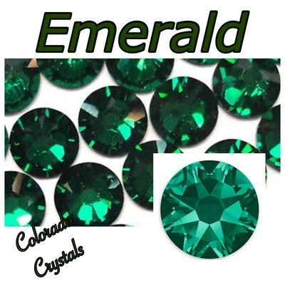 Emerald 20ss 2088 Limited Swarovski Crystals green