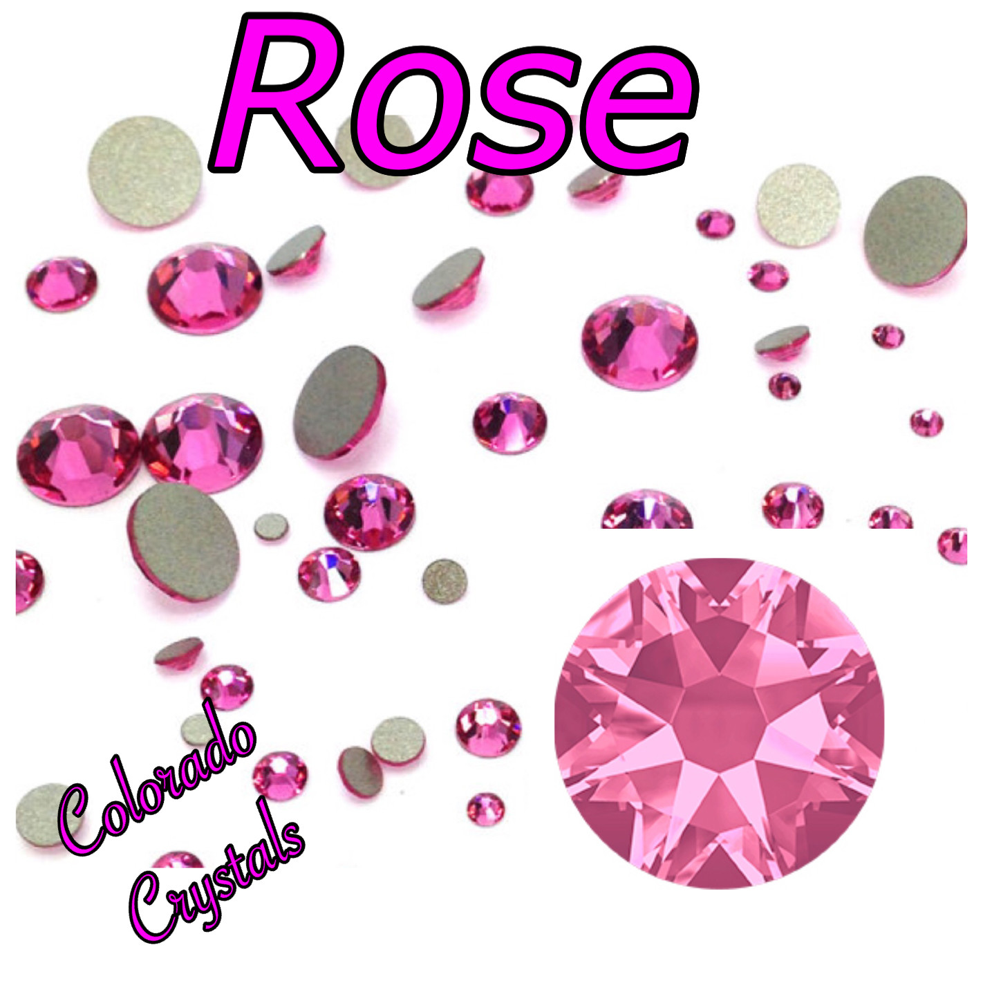 Rose 5ss 2058 Limited Pink Crystals Swarovski