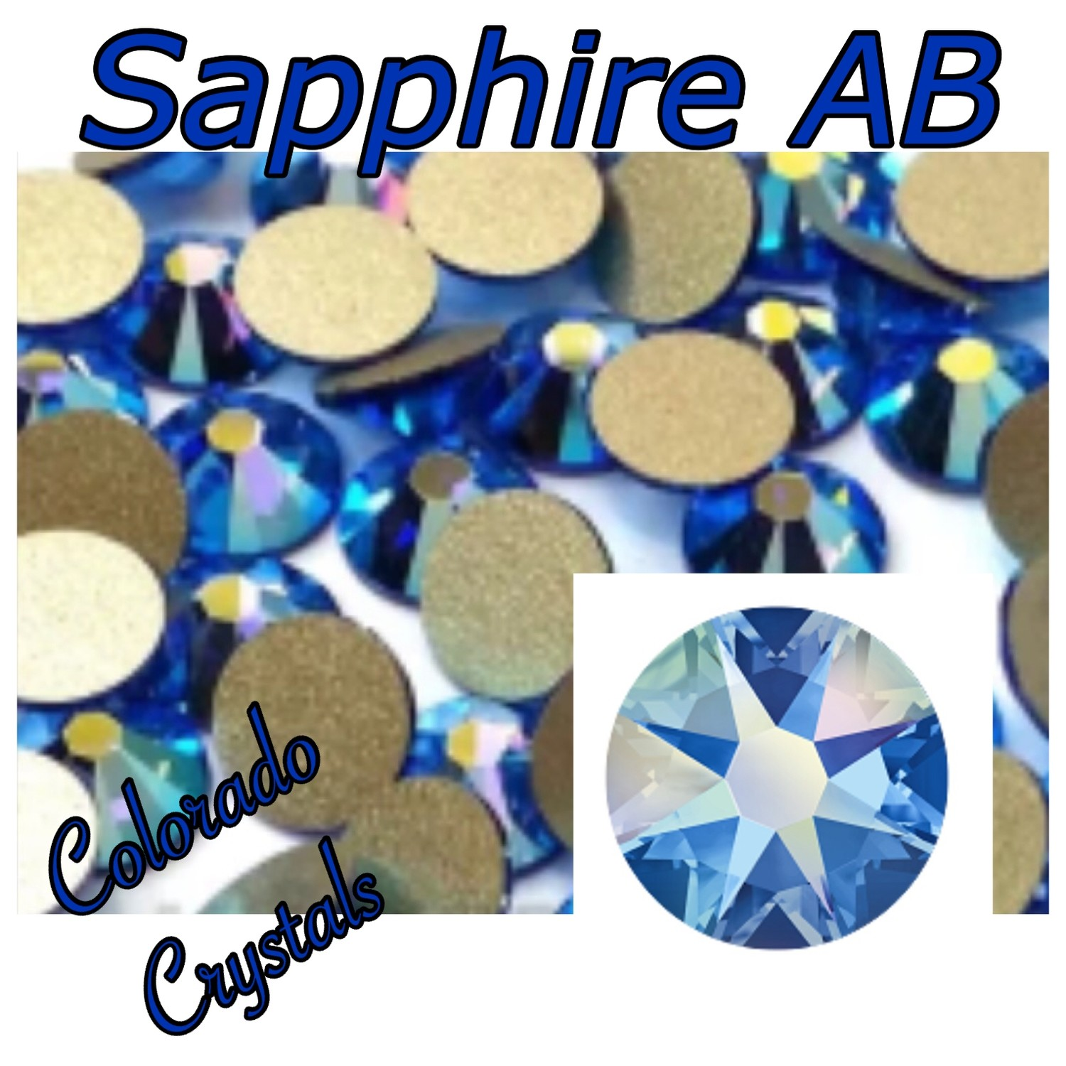 Sapphire AB 20ss 2088 Limited Swarovski Blue Crystals