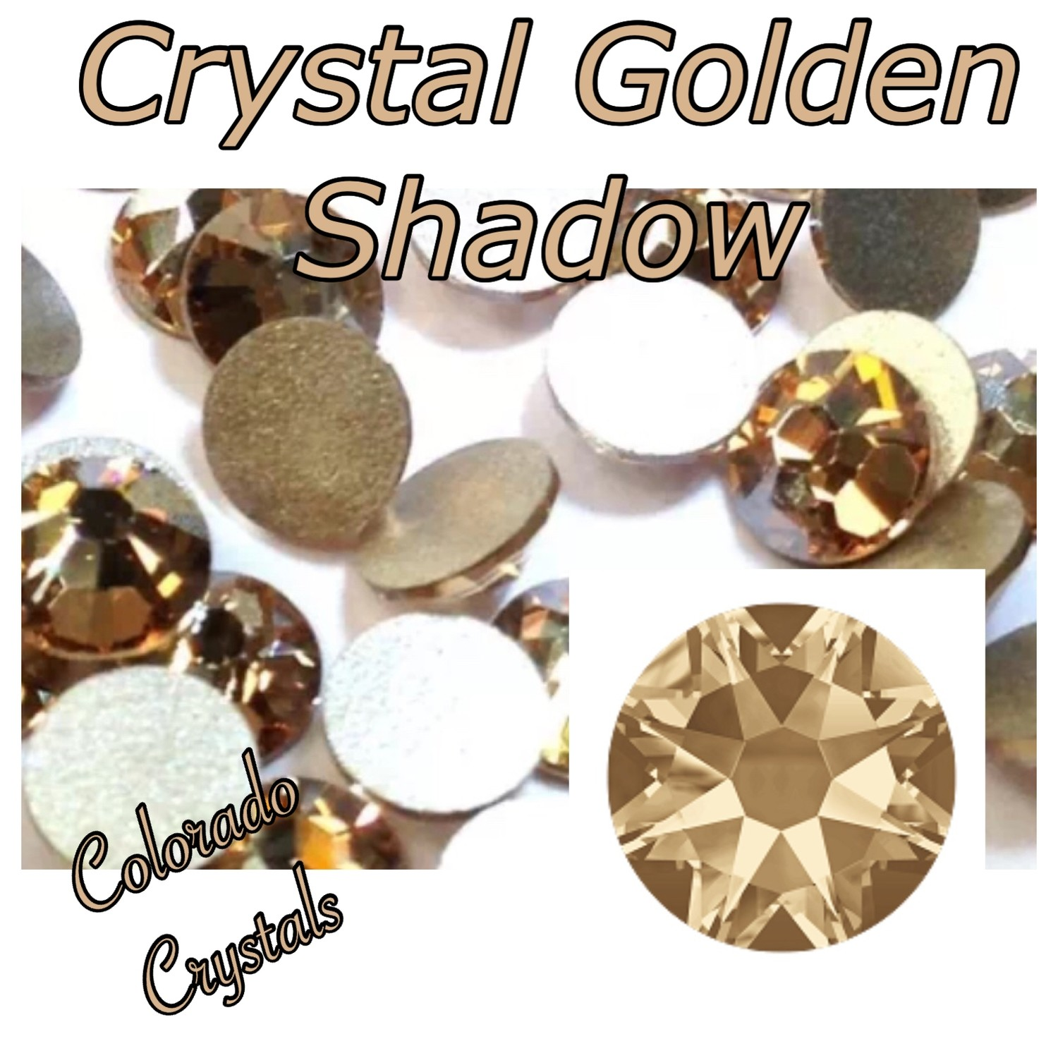 Crystal Golden Shadow 7ss 2058 Limited Swarovski Xillion Rose