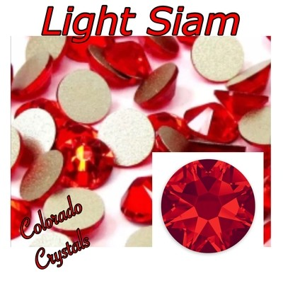 Light Siam 5ss 2058 Limited Red Crystals