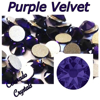 Purple Velvet 34ss 2088 Limited large Crystals