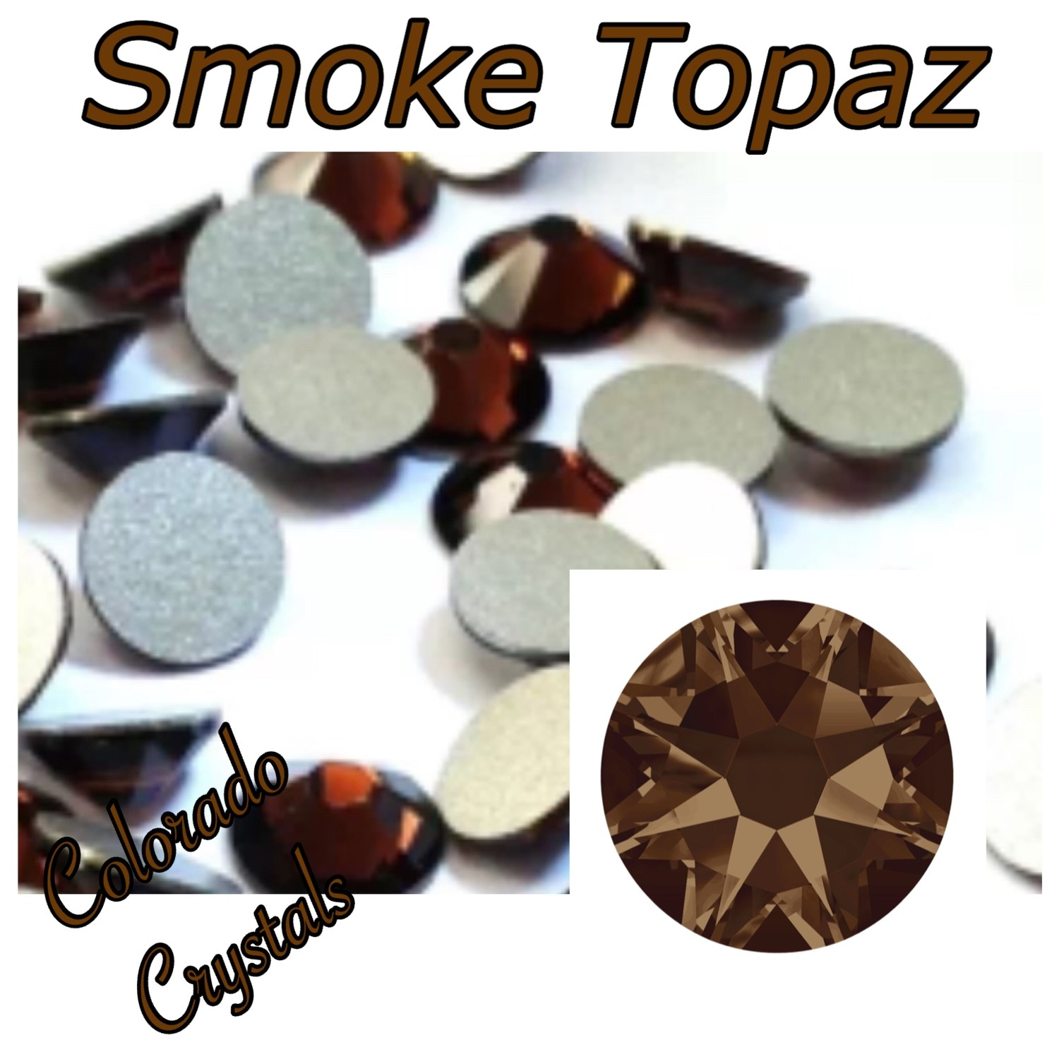 Smoke Topaz 9ss 2058 Brown Crystals
