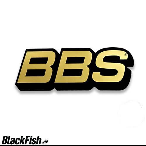 BBS Original USA Large Decal Black / Gold