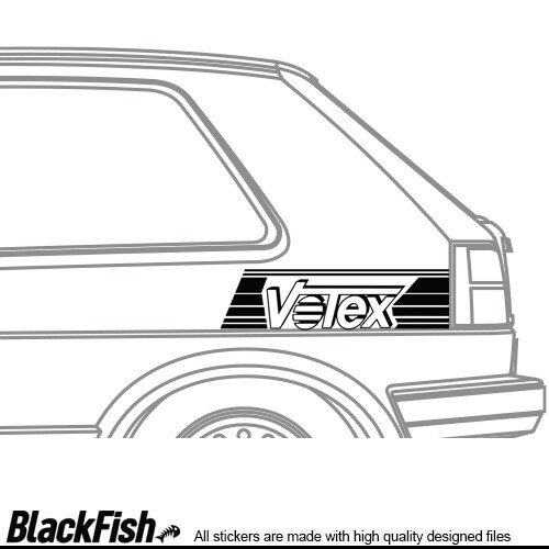 VW Golf / Jetta MK2 Quarter Sticker Votex