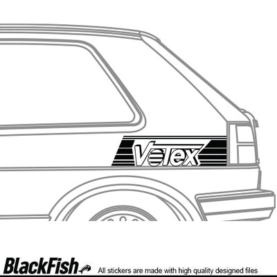 VW Golf / Jetta MK2 Quarter Sticker Votex