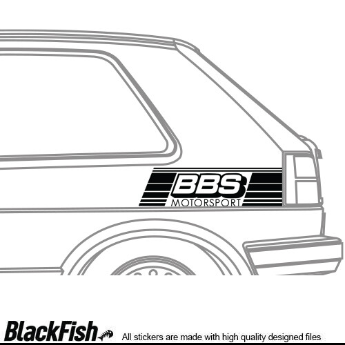 VW Golf / Jetta MK2 Quarter Sticker BBS