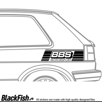 VW Golf / Jetta MK2 Quarter Sticker BBS