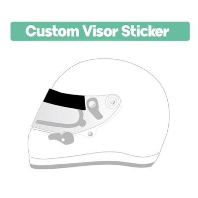 .Custom Visor Sticker