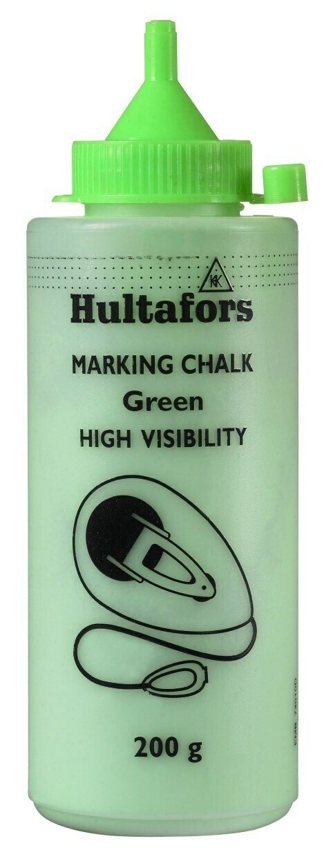 Hultafors Chalk Line Chalk high-vis green