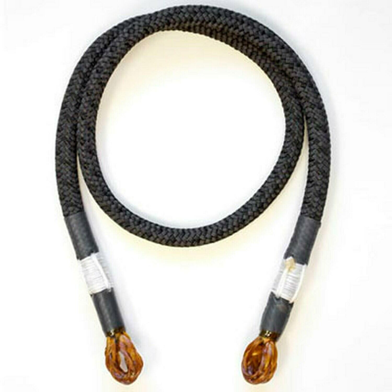 Rope Logic's 10mm Hand Spliced Black BeeLine Eye To Eye 30in