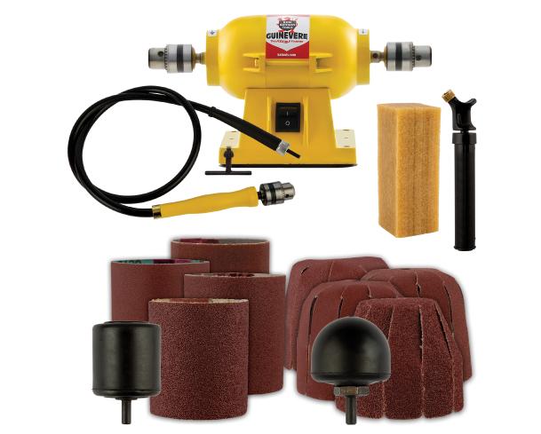 King Arthur Tools Basic Sanding System (Round Sander, Drum Sander, Motor and Flex Shaft)