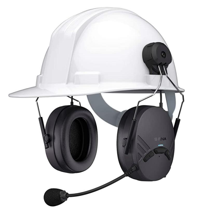 Sena Tuffalk Lite Hard Hat Mount Mesh Earmuff Long-Range Bluetooth