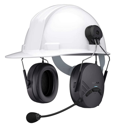 Sena Tuffalk Lite Hard Hat Mount Mesh Earmuff Long-Range Bluetooth