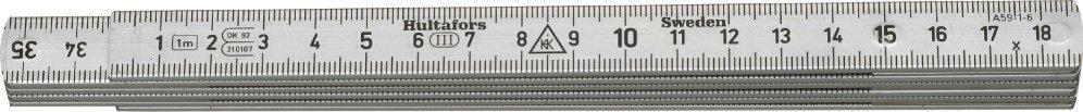 Hultafors Aluminium Folding Rule A59 — 1m, 6 sections