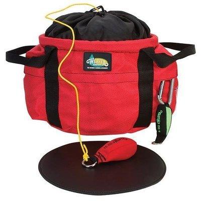 Throw Line Bucket Bag, Red