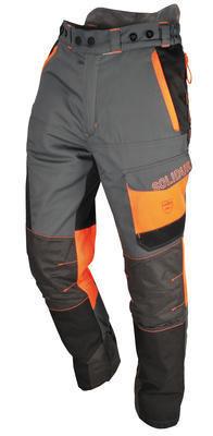 Comfy Lumberjack Trousers—Grey/Orange