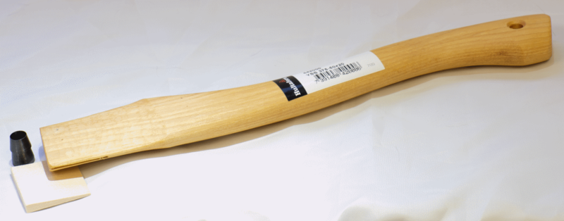 Axe Shaft Curved With Wooden Wedge—Spare Handle YSS 375-50x20